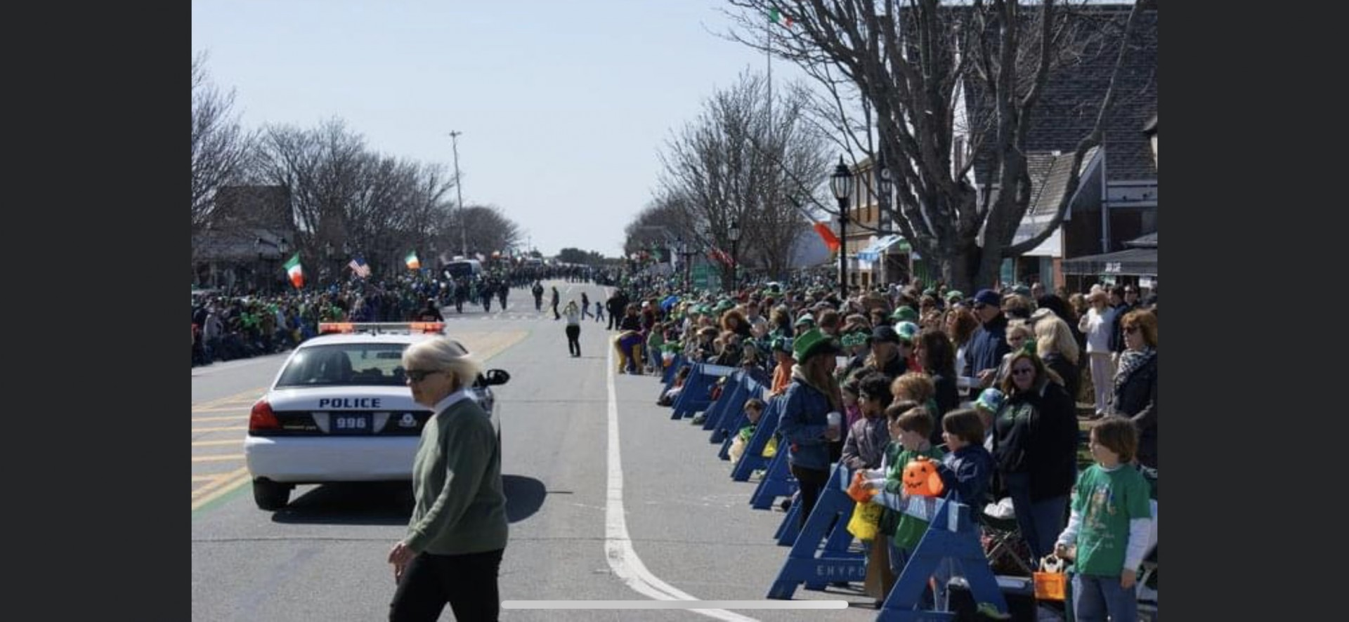 Main Street Montauk for our annual St.Patrick's Day Parade